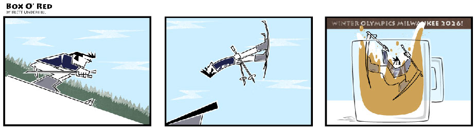 Wine comic: ski jumping olympics