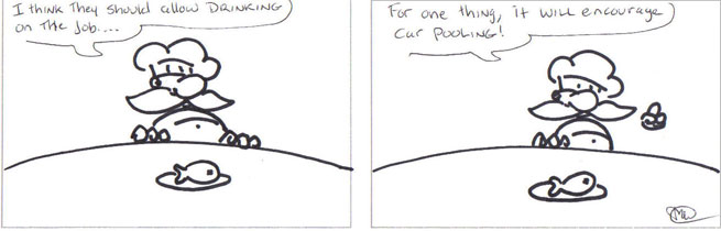 Wine comic: car pooling