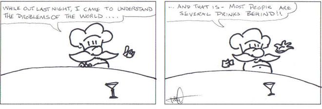 Wine comic: solving the problems of the world