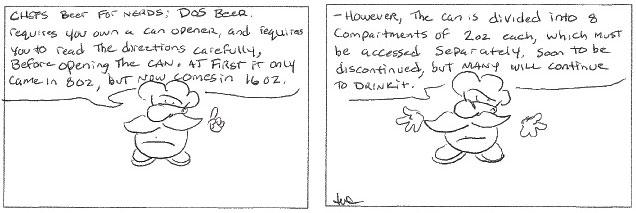 Wine comic: DOS beer, beer for nerds.