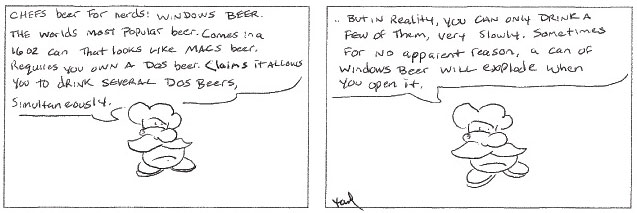 Wine comic: Windows beer, beer for nerds.