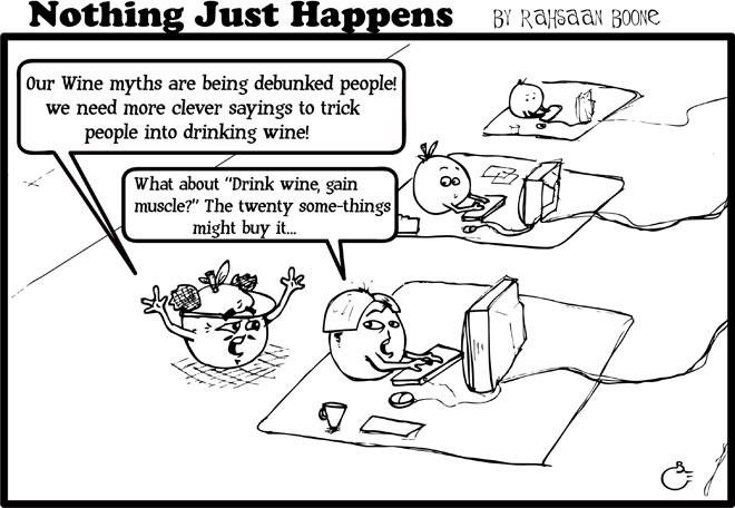 Cartoon: Creating Wine Myths