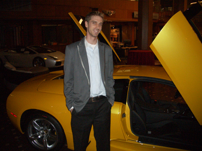 Mike Supple with the badass new 2008 Lamborghini Murcielago
