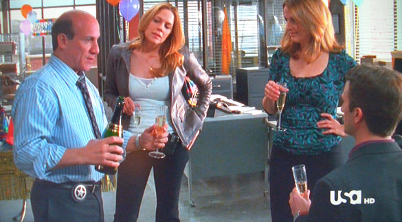 Toasting Mary's engagement with Gruet sparkling wine on 'In Plain Sight.'